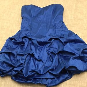 Deb Blue Ruffle Homecoming Dress Juniors 5